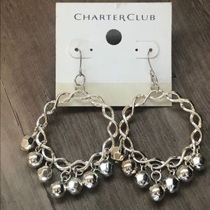 New charter club silver earrings